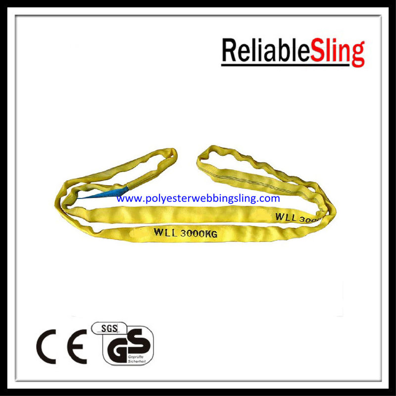 Durable polyester round slings Endless for boat / cargo / crane lifting