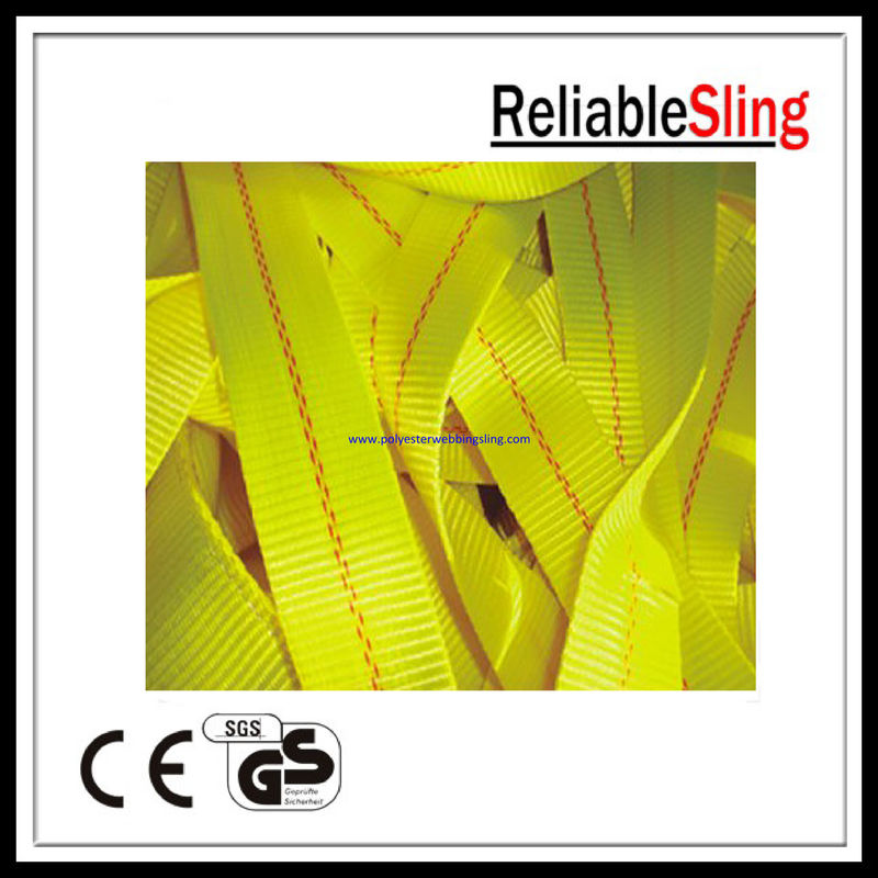OEM 2 Inch 11000LBS / 10000LBS Yellow heavy duty webbing for Ratchet Strap