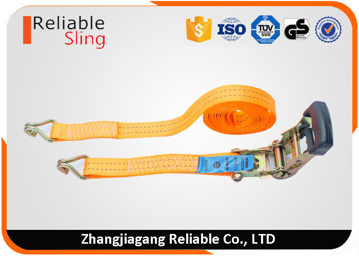 European Type 38mm 2 Ton Vehicle Tie Down Straps For Cargo Transportation